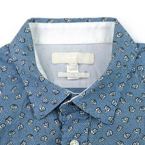 MEN'S DIESEL SKULL AND CROWN PATTERN SLIM SHIRT